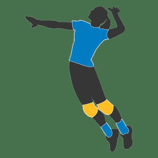 Jugadora de voleibol femenino 2 Transparent PNG