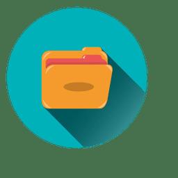 Icono de círculo de archivo
