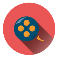 Film reel circle icon