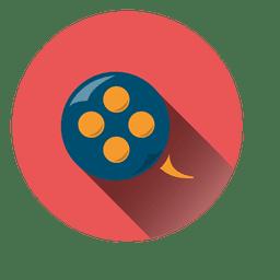 Filmrolle-Kreis-Symbol