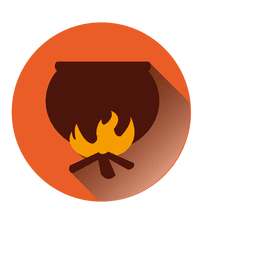 Fire pot halloween icon