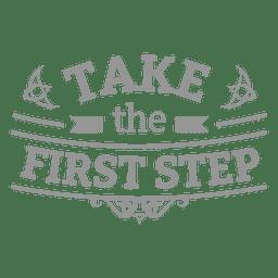 Insignia motivacional del primer paso.