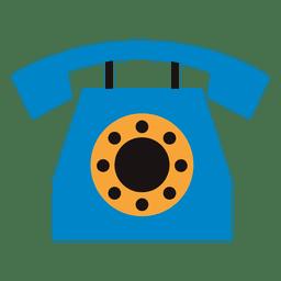Icono de telefono plano