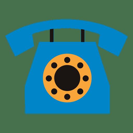 Ícone de telefone plano Transparent PNG