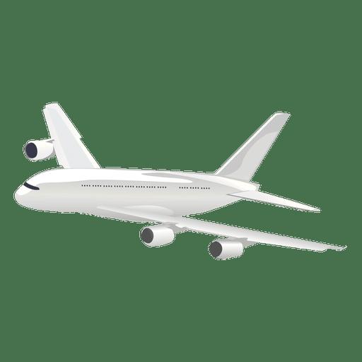 Flying airplane cartoon