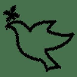 Fliegende Taube-Symbol