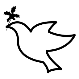 Flying dove icon
