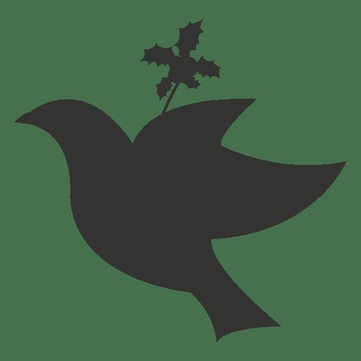 Flying dove christmas icon