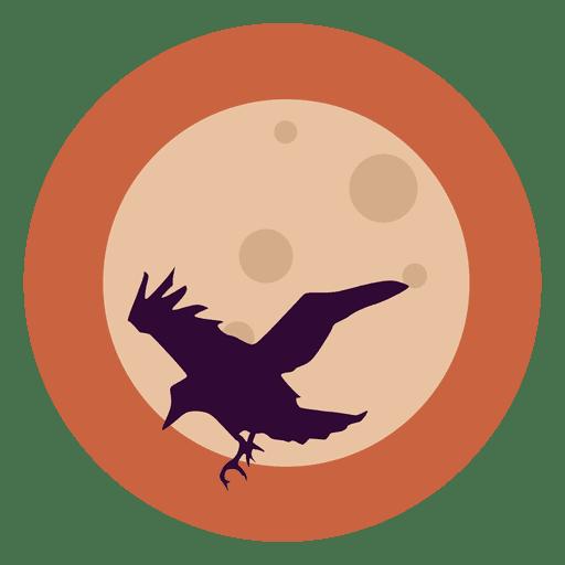Icono de c?rculo de cuervo volador