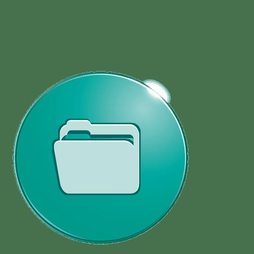 Icono de burbuja de carpeta Transparent PNG