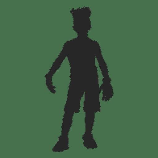 Frankenstain children costume silhouette Transparent PNG