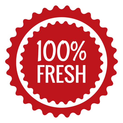 Fresh ecology label badge Transparent PNG