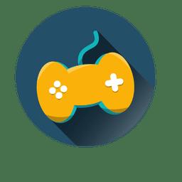 Controlador de juego icono redondo