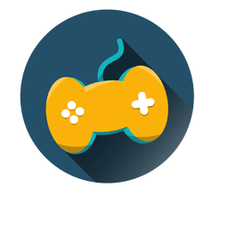 Gaming controller round icon