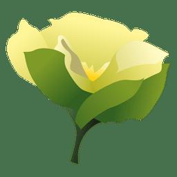 Dibujos animados de flores de gardenia 1