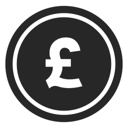 Gbp pound coin icon