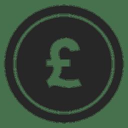 Icono de moneda libra Gbp