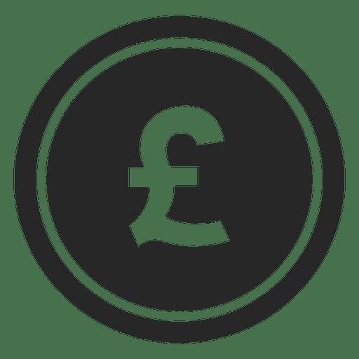 Icono de moneda libra Gbp Transparent PNG