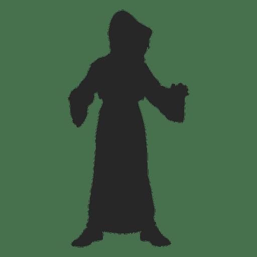 Ghost costume children silhouette