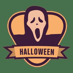 Distintivo de halloween fantasma