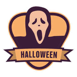Ghost halloween badge