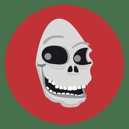 Geist-Schädel-Kreis-Symbol