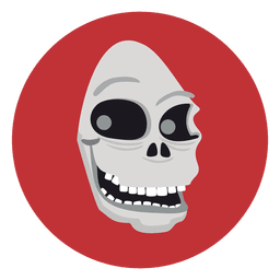 Ghost skull circle icon