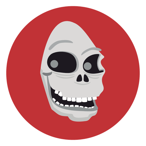 Ghost skull circle icon Transparent PNG