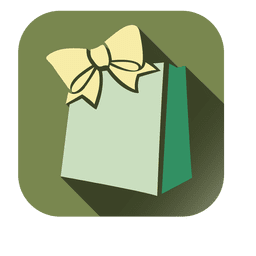 Gift bag square icon