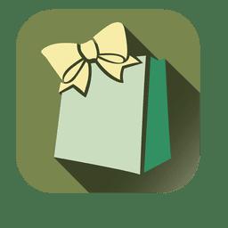 Ícone quadrado de saco de presente