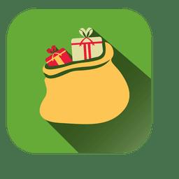 Gift bag square icon