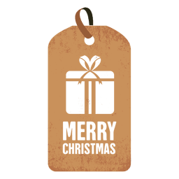 Gift box christmas tag