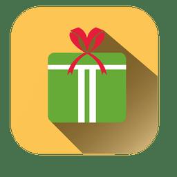 Gift box square icon