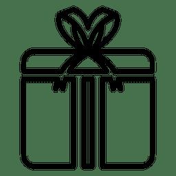 Icono de línea de caja de regalo