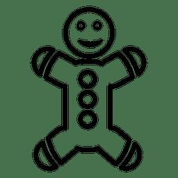 Ícone de linha de gengibre