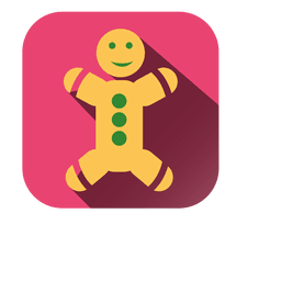 Gingerbread square icon