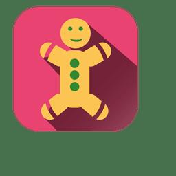 Icono cuadrado de pan de jengibre