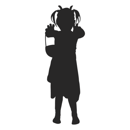 Girl halloween costume silhouette Transparent PNG