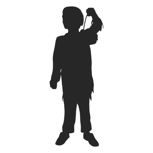 Girl halloween costume silhouette 1 Transparent PNG