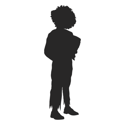 Girl halloween costume silhouette 2 Transparent PNG