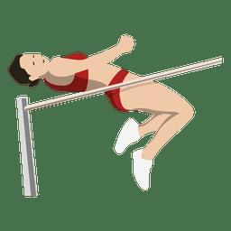 Girl high jump cartoon