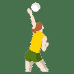 Menina que joga o voleibol