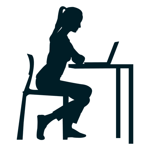 Girl Working On Desk Transparent Png Amp Svg Vector