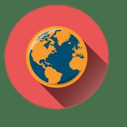 Ícone de círculo do globo