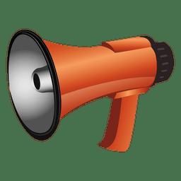 Glossy megaphone