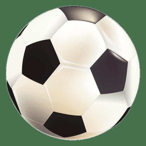 Balón de fútbol brillante Transparent PNG