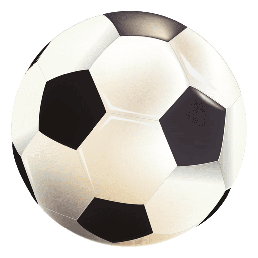 Pelota de futbol brillante Transparent PNG