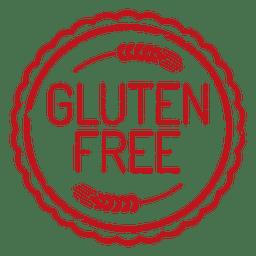 El gluten etiqueta insignia ecología libre
