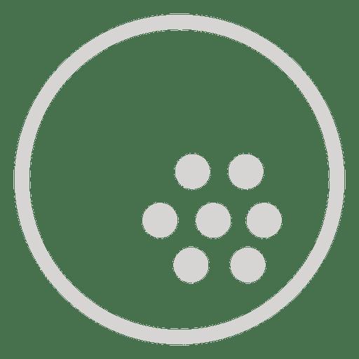 Ícone de bola de golfe Transparent PNG