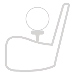 Ícone de taco de bola de golfe